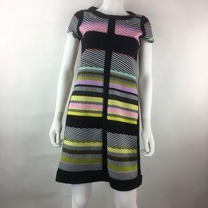 Shelby & Palmer Size 6 Black Sheath Dress Striped